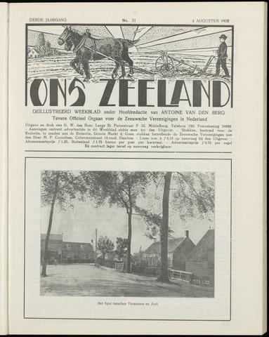 Ons Zeeland / Zeeuwsche editie 1928-08-04