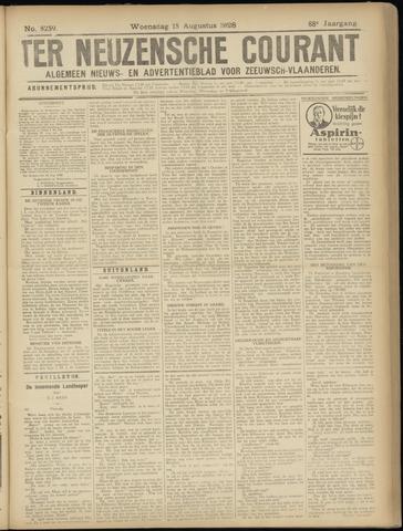 Ter Neuzensche Courant. Algemeen Nieuws- en Advertentieblad voor Zeeuwsch-Vlaanderen / Neuzensche Courant ... (idem) / (Algemeen) nieuws en advertentieblad voor Zeeuwsch-Vlaanderen 1928-08-15