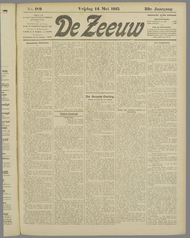 De Zeeuw. Christelijk-historisch nieuwsblad voor Zeeland 1915-05-14