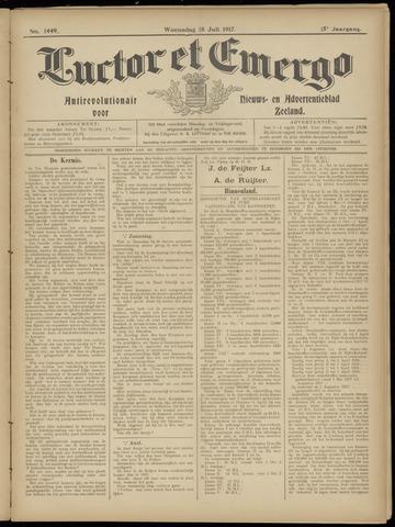Luctor et Emergo. Antirevolutionair nieuws- en advertentieblad voor Zeeland / Zeeuwsch-Vlaanderen. Orgaan ter verspreiding van de christelijke beginselen in Zeeuwsch-Vlaanderen 1917-07-18