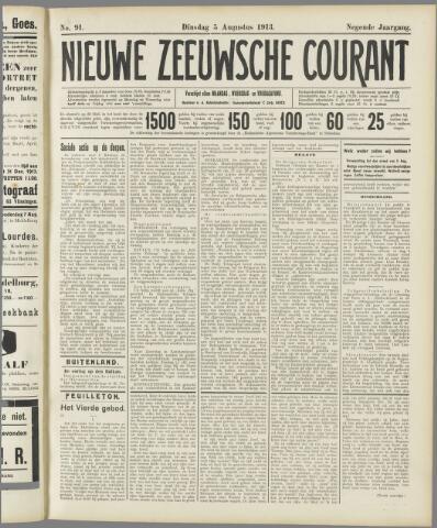 Nieuwe Zeeuwsche Courant 1913-08-05