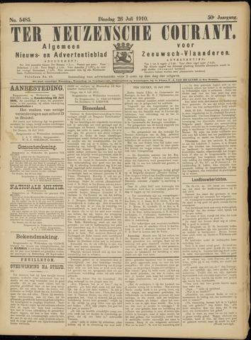 Ter Neuzensche Courant. Algemeen Nieuws- en Advertentieblad voor Zeeuwsch-Vlaanderen / Neuzensche Courant ... (idem) / (Algemeen) nieuws en advertentieblad voor Zeeuwsch-Vlaanderen 1910-07-26