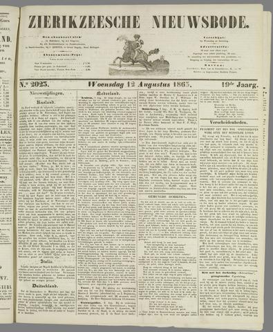 Zierikzeesche Nieuwsbode 1863-08-12