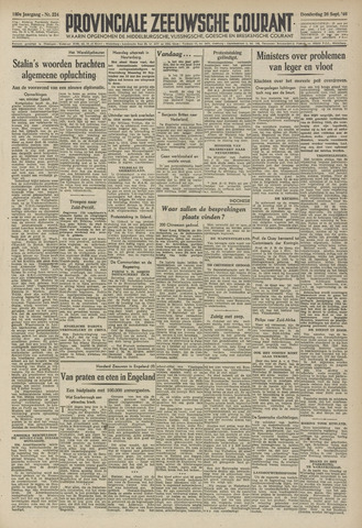 Provinciale Zeeuwse Courant 1946-09-26