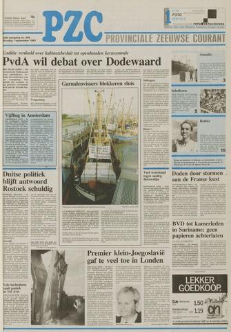 Provinciale Zeeuwse Courant 1992-09-01