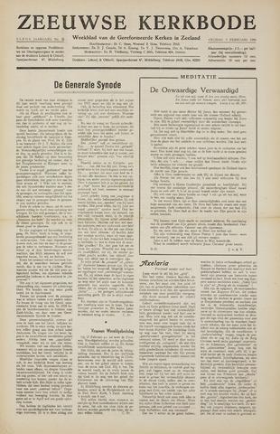 Zeeuwsche kerkbode, weekblad gewijd aan de belangen der gereformeerde kerken/ Zeeuwsch kerkblad 1956-02-03