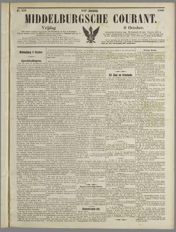 Middelburgsche Courant 1908-10-09