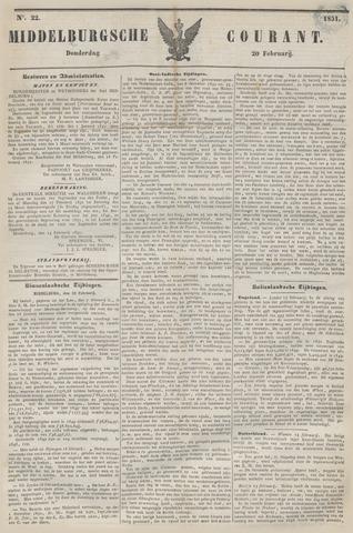 Middelburgsche Courant 1851-02-20