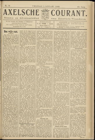 Axelsche Courant 1926-01-01