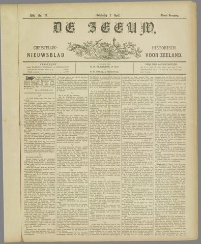De Zeeuw. Christelijk-historisch nieuwsblad voor Zeeland 1896-04-02