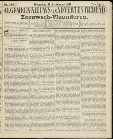 Ter Neuzensche Courant. Algemeen Nieuws- en Advertentieblad voor Zeeuwsch-Vlaanderen / Neuzensche Courant ... (idem) / (Algemeen) nieuws en advertentieblad voor Zeeuwsch-Vlaanderen 1867-09-18