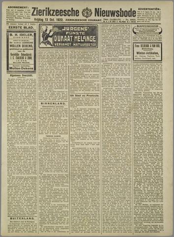 Zierikzeesche Nieuwsbode 1922-10-13