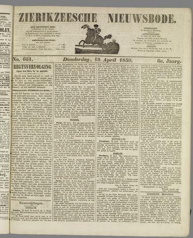 Zierikzeesche Nieuwsbode 1850-04-18