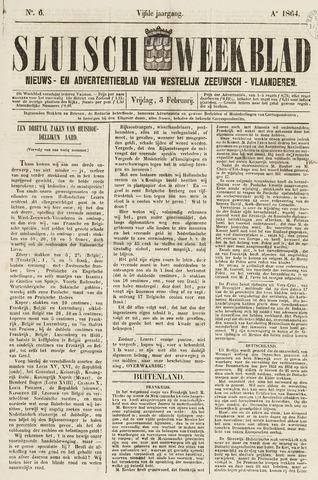 Sluisch Weekblad. Nieuws- en advertentieblad voor Westelijk Zeeuwsch-Vlaanderen 1864-02-05