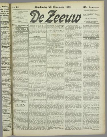 De Zeeuw. Christelijk-historisch nieuwsblad voor Zeeland 1920-12-23