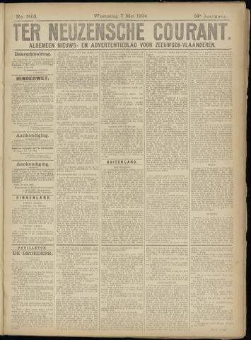 Ter Neuzensche Courant. Algemeen Nieuws- en Advertentieblad voor Zeeuwsch-Vlaanderen / Neuzensche Courant ... (idem) / (Algemeen) nieuws en advertentieblad voor Zeeuwsch-Vlaanderen 1924-05-07