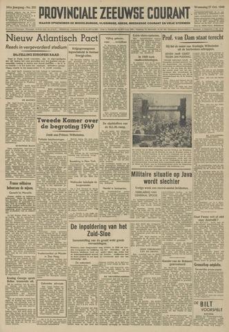 Provinciale Zeeuwse Courant 1948-10-27
