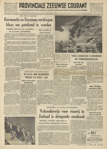 Provinciale Zeeuwse Courant 1957-03-11
