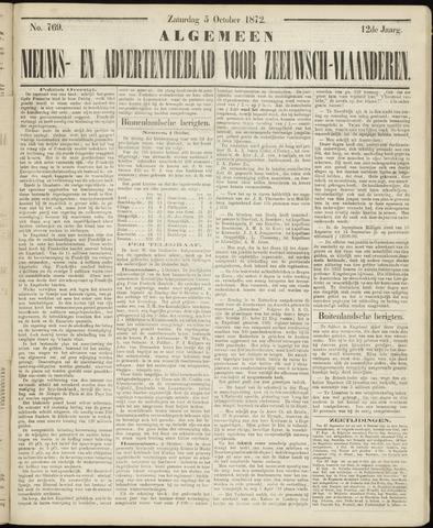 Ter Neuzensche Courant. Algemeen Nieuws- en Advertentieblad voor Zeeuwsch-Vlaanderen / Neuzensche Courant ... (idem) / (Algemeen) nieuws en advertentieblad voor Zeeuwsch-Vlaanderen 1872-10-05