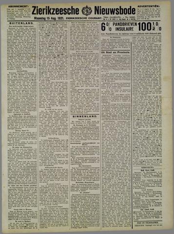 Zierikzeesche Nieuwsbode 1921-08-15