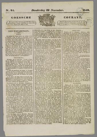 Goessche Courant 1849-11-22