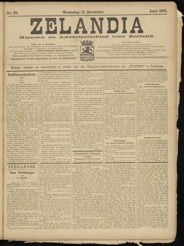 Zelandia. Nieuws-en advertentieblad voor Zeeland | edities: Het Land van Hulst en De Vier Ambachten 1902-11-12