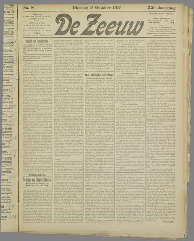 De Zeeuw. Christelijk-historisch nieuwsblad voor Zeeland 1917-10-09