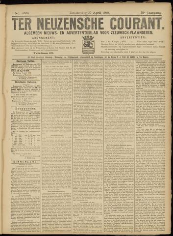 Ter Neuzensche Courant. Algemeen Nieuws- en Advertentieblad voor Zeeuwsch-Vlaanderen / Neuzensche Courant ... (idem) / (Algemeen) nieuws en advertentieblad voor Zeeuwsch-Vlaanderen 1919-04-10