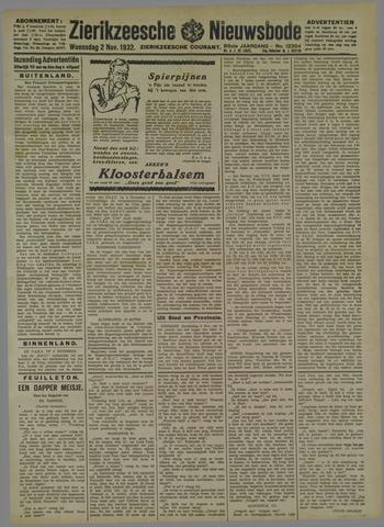 Zierikzeesche Nieuwsbode 1932-11-02