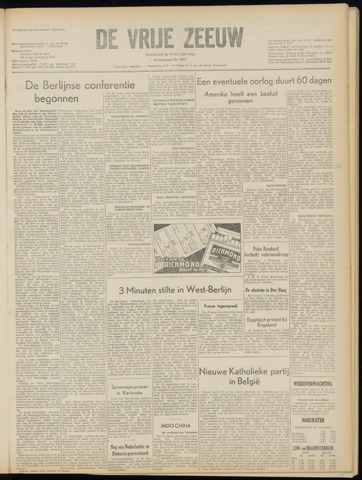 de Vrije Zeeuw 1954-01-26