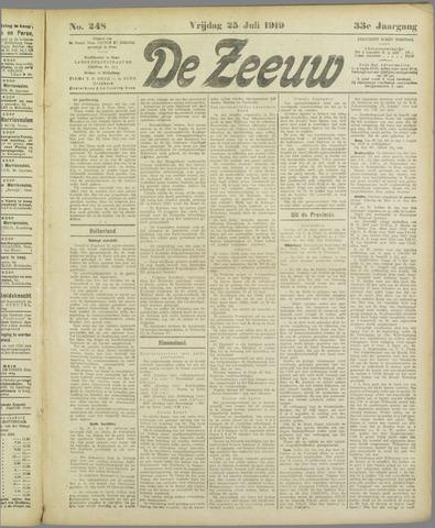 De Zeeuw. Christelijk-historisch nieuwsblad voor Zeeland 1919-07-25