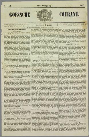 Goessche Courant 1857-07-06