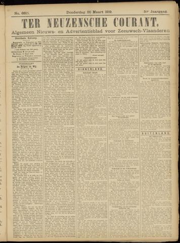 Ter Neuzensche Courant. Algemeen Nieuws- en Advertentieblad voor Zeeuwsch-Vlaanderen / Neuzensche Courant ... (idem) / (Algemeen) nieuws en advertentieblad voor Zeeuwsch-Vlaanderen 1919-03-20