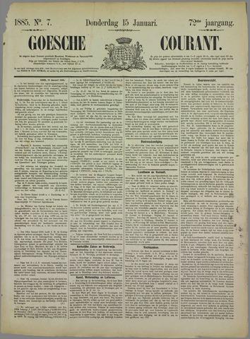 Goessche Courant 1885-01-15