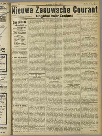 Nieuwe Zeeuwsche Courant 1920-04-12