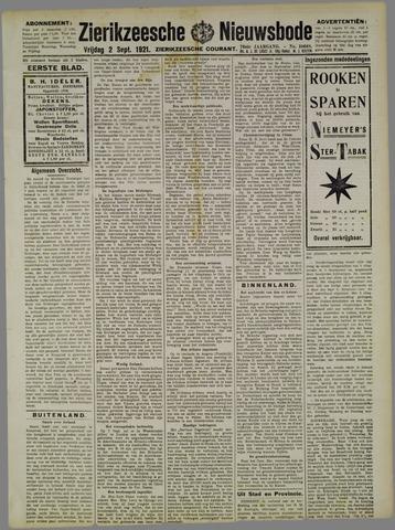 Zierikzeesche Nieuwsbode 1921-09-02