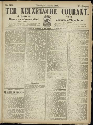 Ter Neuzensche Courant. Algemeen Nieuws- en Advertentieblad voor Zeeuwsch-Vlaanderen / Neuzensche Courant ... (idem) / (Algemeen) nieuws en advertentieblad voor Zeeuwsch-Vlaanderen 1888-08-08