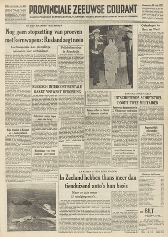 Provinciale Zeeuwse Courant 1957-08-28