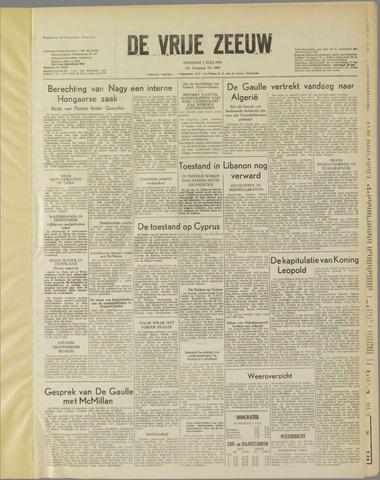 de Vrije Zeeuw 1958-07-01