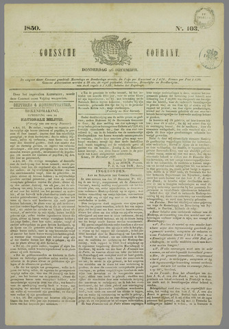 Goessche Courant 1850-12-26