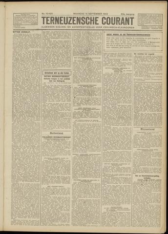 Ter Neuzensche Courant. Algemeen Nieuws- en Advertentieblad voor Zeeuwsch-Vlaanderen / Neuzensche Courant ... (idem) / (Algemeen) nieuws en advertentieblad voor Zeeuwsch-Vlaanderen 1942-09-14