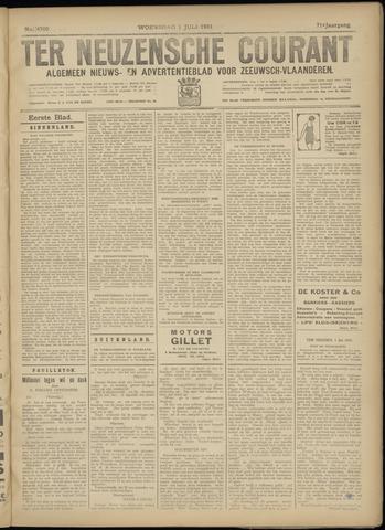 Ter Neuzensche Courant. Algemeen Nieuws- en Advertentieblad voor Zeeuwsch-Vlaanderen / Neuzensche Courant ... (idem) / (Algemeen) nieuws en advertentieblad voor Zeeuwsch-Vlaanderen 1931-07-01