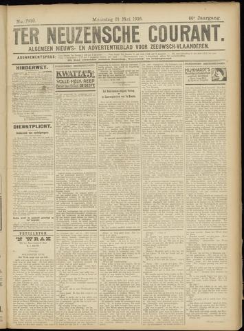 Ter Neuzensche Courant. Algemeen Nieuws- en Advertentieblad voor Zeeuwsch-Vlaanderen / Neuzensche Courant ... (idem) / (Algemeen) nieuws en advertentieblad voor Zeeuwsch-Vlaanderen 1926-05-31