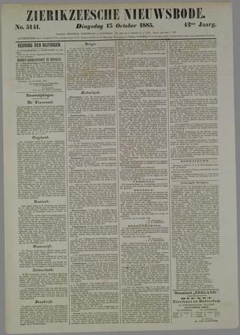 Zierikzeesche Nieuwsbode 1885-10-13