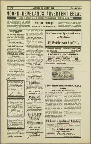 Noord-Bevelands Nieuws- en advertentieblad 1932-10-22