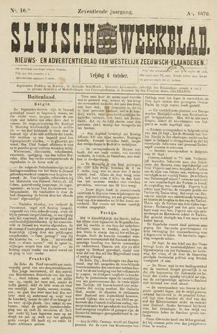 Sluisch Weekblad. Nieuws- en advertentieblad voor Westelijk Zeeuwsch-Vlaanderen 1876-10-06