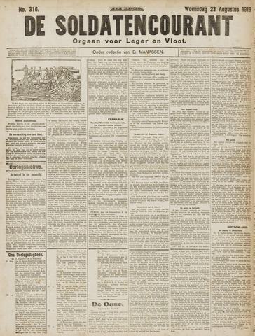 De Soldatencourant. Orgaan voor Leger en Vloot 1916-08-23