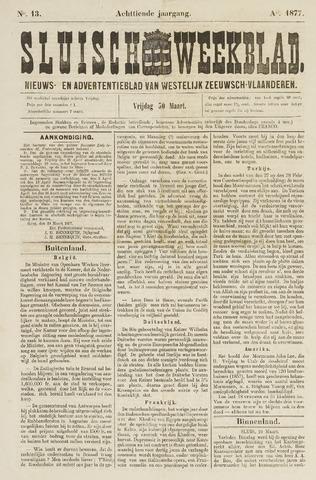 Sluisch Weekblad. Nieuws- en advertentieblad voor Westelijk Zeeuwsch-Vlaanderen 1877-03-30