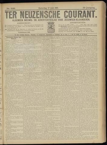 Ter Neuzensche Courant. Algemeen Nieuws- en Advertentieblad voor Zeeuwsch-Vlaanderen / Neuzensche Courant ... (idem) / (Algemeen) nieuws en advertentieblad voor Zeeuwsch-Vlaanderen 1915-07-17
