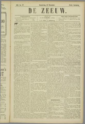 De Zeeuw. Christelijk-historisch nieuwsblad voor Zeeland 1891-12-24